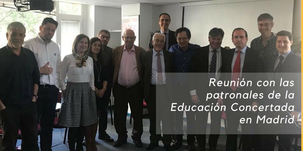 Reunión con las patronales de la Educación Concertada en Madrid
