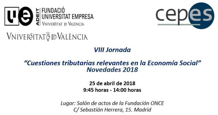 Cuestiones tributarias relevantes en la Economía Social   Novedades 2018