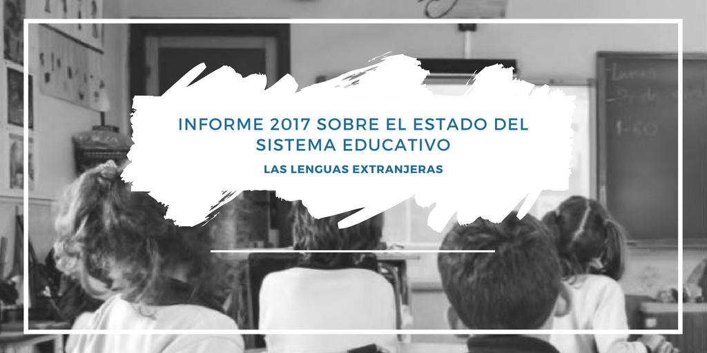 Lenguas Extranjeras | Informe 2017 sobre el estado del Sistema Educativo