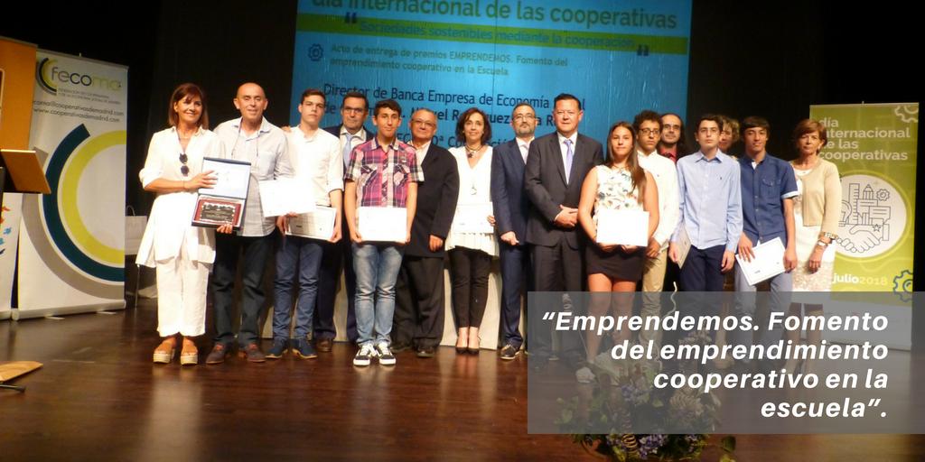 """Entrega de premios del concurso """"Emprendemos. Fomento del emprendimiento cooperativo en la escuela"""""""